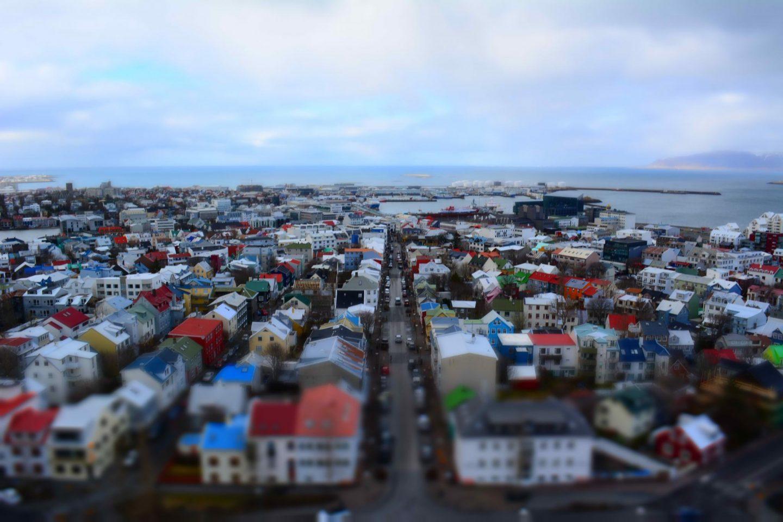 Iceland Honeymoon Reykjavik from Hallgrimskirkja