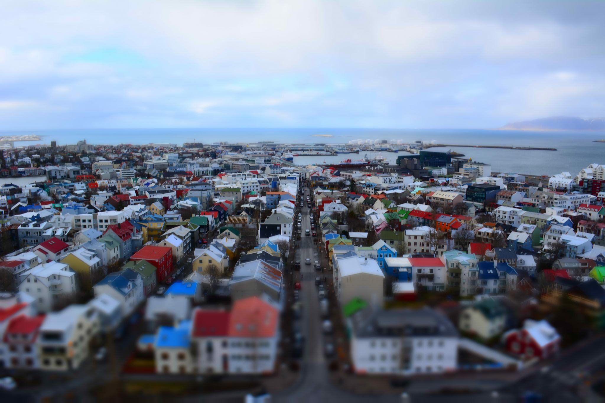 Iceland Honeymoon Reykjavik from Hallgrimskirkja